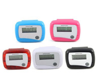 Wholesale LCD Pedometer Step Counter MINI Calorie Counters Walking Distance New Pocket colors