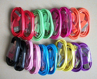 Wholesale free by DHL Colorful USB Data Sync Charger Cable Cord For ipod nano Ipod touch iphone g gs g s