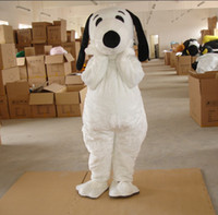 Wholesale plush bodysuit snoopy dog mascot costumes for birthday party adult size custom made white