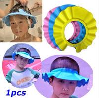 Wholesale New Soft Baby Kids Children Shampoo Bath Bathing Shower Cap Hat Wash Hair Shield