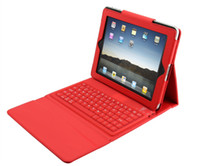Wholesale Christmas quot Wireless Bluetooth Leather Case Cover with Keyboard for inch iPad2 iPad3 Tablet PC