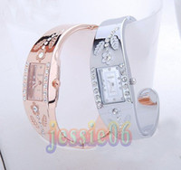 Wholesale Bracelet watches women lady CZ diamond Jewelry Bangle bracelet Wrist watch Super Christmas gift