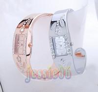 Women's bangle bracelet wrist watch - Bracelet watches women lady CZ diamond Jewelry Bangle bracelet Wrist watch Super Christmas gift