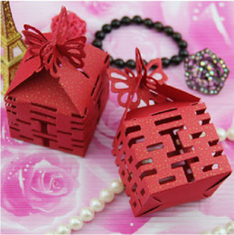 Wholesale Best Sale Candy Box Four Double Happiness in side Wedding Favor Candy Box Gift Boxes