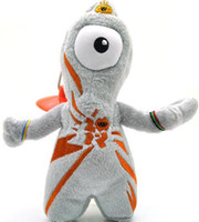 Wholesale 10pcs Olympic Mascots Wenlock Plush Doll with sucker cartoon doll car decoration cm