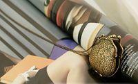antique brass purse - Antique Brass Purse Locket Pendant Long Necklace CAN OPEN MC3