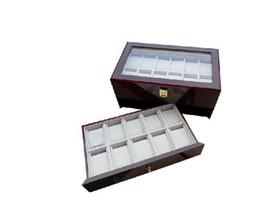 Wholesale Luxury Wood Box watch Exhibitions Collection Wood Box Swiss Glass Top Waterproof Men s Ladies Wat