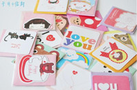 Wholesale Lovely Birthday Cards Greeting Cards Cartoon Gift Card with Envelope