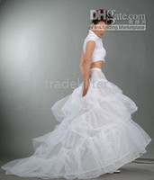 Wholesale Bridal Train Style Hoop Petticoat Crinoline one size