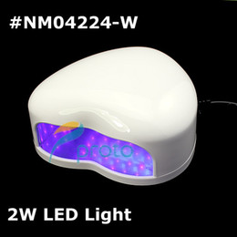 Wholesale White Heart Shape W LED Light Nail Curing Lamp for Soak off Gel Polish and Other Non soak offs Dropshipping retail SKU E0099