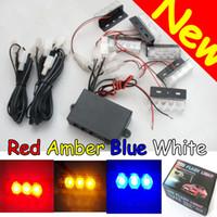 Emergency Strobe Lights  dash lights - NEW Universal x LED Emergency Strobe Lights Deck Dash Grille Warning FLash Modes DC V