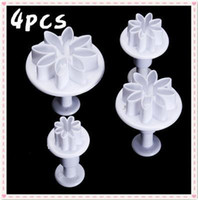 Wholesale 4pcs daisy marguerite cookie plunger cutters fontant cake decorating sugarcraft DIY tool