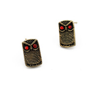 Wholesale New style alloy owl earrings fashion eardrop accessories pair mixed order