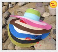 Wholesale Straw Hats Wide Brim Hats Large Hats Caps Cheap Cool Multicolor Womens Summer Caps Best Ladies Hats