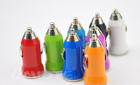 Wholesale mini car charger usb charge car cigarette lighter car charger colours