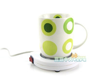 Wholesale heater Warmer cup mat Round with switch electric heat mat heat pad coasters coffee War