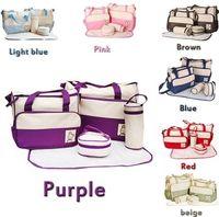 Wholesale 7 Colors Set Baby Diaper Bag Mummy bags Women Handbag Nappy Tote Shoulder Bag