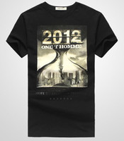 2012 Brand New Mens Short Sleeve Black t- shirts Men's Cotton...