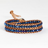 Wholesale bead bracelets leather wrap bracelets leather for bracelets