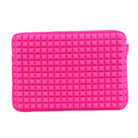 Wholesale Pink Neoprene Sleeve Carrying Case Zipper Bag for Apple Macbook Air Pro Laptop Netbook