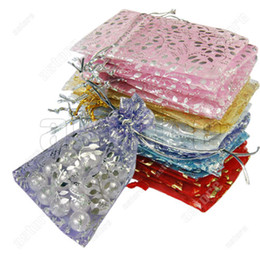 Wholesale Hot Sales Organza Jewelry Gift Pouch Bags with Mixed Color Size CM Fashion FX44