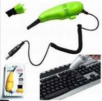 Wholesale MINI USB Vacuum Keyboard Cleaner for PC Laptop Computer NEW Two Vacuum Cleaning Attachments lk