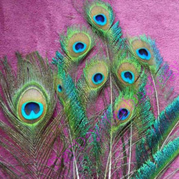 Wholesale Beautiful Natural Peacock Tail feathers about cm Great Decorations