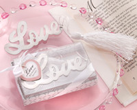 Wedding wedding gifts wedding supplier Silver Love Wedding bookmark favor BM023 100PCS OT real product photos express shipping