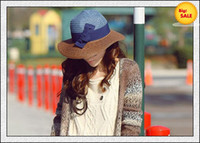 Red Cowboy Woman Straw Hats Wide Brim Hats Fashion Top Hat Womens Summer Caps Ladies Hats with Bowknot 2012 ON SALE
