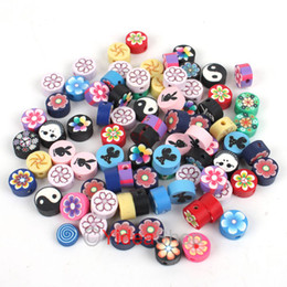 Wholesale Mixed Fimo Polymer Clay Charms Spacer Beads Fit Bracelets Have in Stock
