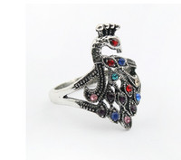 Wholesale Rings Retro Peacock Diamond Ring Exaggerated