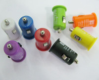 Wholesale Mini USB Car Charger mA Universal Adapter for iphone G G S ipods Single USB port