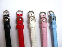 Wholesale 250pcs mm Copy Leather Pet Dog Cat Collar Name Tag