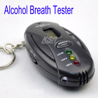 Wholesale Alcohol tester Digital LCD Alcohol Tester Breath tester amp timer with flashlight LCD display