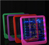 Wholesale LED romantic fluorescence message board tablet Christmas gift home furnishing free via CPA