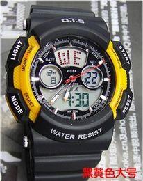 Wholesale New Fashion OTS Sport Wrist Watch Water Resist Stopwatch Alarm Clock Calendar EL Backlight