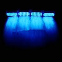 Wholesale Blue x LED Flash Emergency Strobe Car Grill Light H735