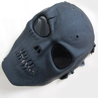 Wholesale Skull Skeleton airsoft army Paintball BB Gun Full Ghost Face Game Mask Black