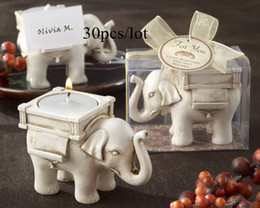 Free Shipping Wedding Elephant candle Holder(no tealight) 30pcs.lot For wedding gift and Promotional Gift hot sale Real Photos
