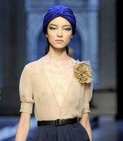 Blending band fitted hats - DHL Free Fashion Turban Head Wrap Band Hat Cap Chemo Bandana Many Colour