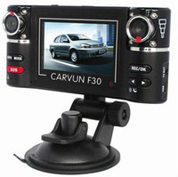 Wholesale F30 Dual Lens Car DVR F30 Car Black Box quot LCD With Degree View Range amp IR LED With SOS TV