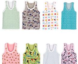 Wholesale Summer Kids Wear cartoon Comic children s Tshirt Pure cotton sleeveless Baby sweet Vest T shirt gift