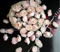 Wholesale 200pcs ivory artificial silk roses heads flower