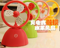 Wholesale NEW Touch charging fan small fanner fruit small fan mini USB charging fan