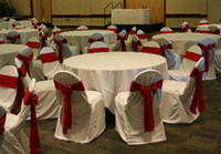 Wholesale white satin Chair Cover banquet chair cover wedding chair cover