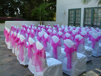 Wholesale HOT SALES NEW ORGANZA CHAIR SASHES BOW COVER BANQUET