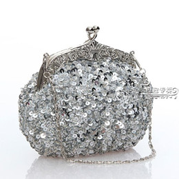 2017 Classic Free shipping lady's sequin beaded vintage party evening handbag clutch wedding bridal handbag 031