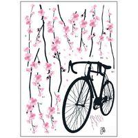 Removable bargain sports - BARGAIN HQ Wall Deco Sticker Cherry Blossom Bike