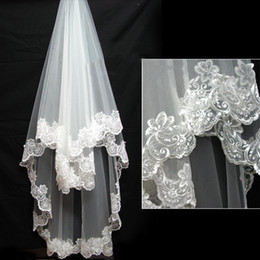 Wholesale On Sale Best selling High Quality Lace Edge Single Layer Wedding Lace Veils Bridal Veils V9
