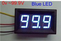 dc voltage panel meter - 10pcs Mini DC V To V Blue LED Digital Panel Volt Voltage Meter Voltmeter